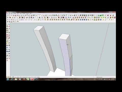woodworking make chair with sketchup