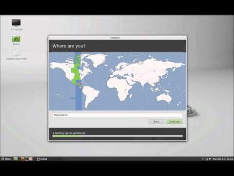 install Linux Mint 13 into a bootable flash drive