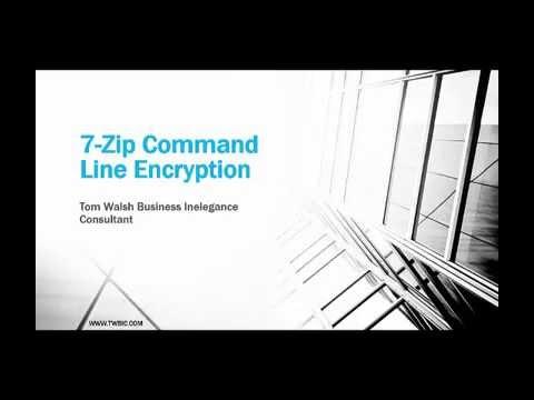 7-Zip Command Line Encryption