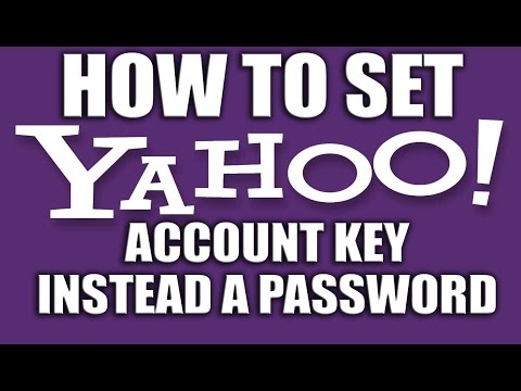 How to Set Yahoo Account Key Instead a Password - Yahoo Email Services
