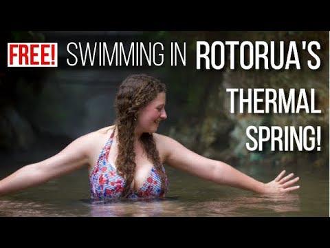 Swimming In A FREE Thermal River In New Zealand! | ROTORUA'S BEST HIDDEN GEM!