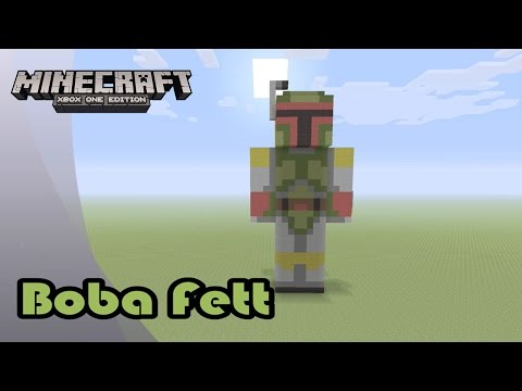 MAY THE FOURTH BE WITH YOU! Minecraft: Statue Tutorial and Showcase: Boba Fett (Star Wars Day)