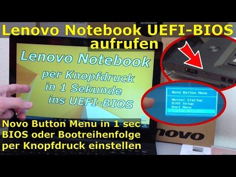 Lenovo Notebook BIOS starten | UEFI BIOS per Knopfdruck in 1 Sekunde aufrufen