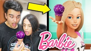 We Tried Following A Barbie Vlogs Cooking Tutorial. (DIY BARBIE CAKE POPS COOKING HACKS)