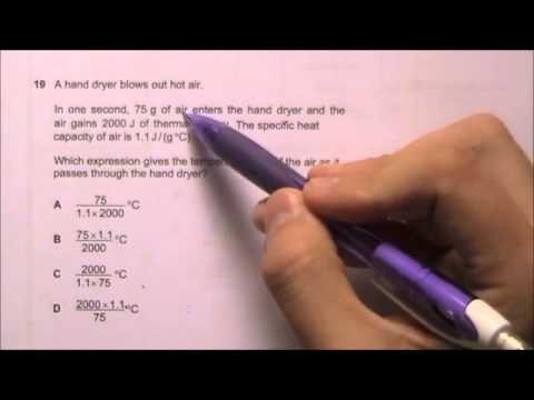 2012 O' Level Physics 5058 Paper 1 Solution Qn 16 to 20