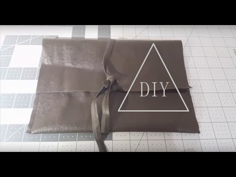 DIY How to make an easy clutch bag with English subtitles