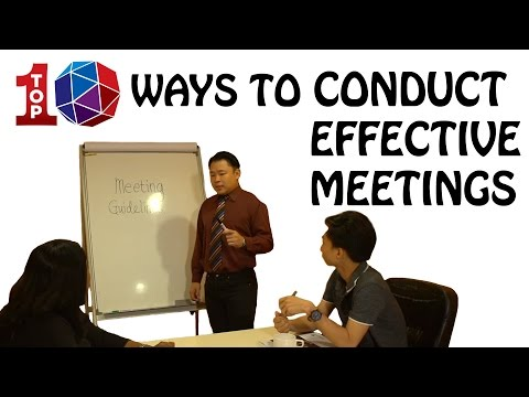 Top 10 ways to conduct effective meetings
