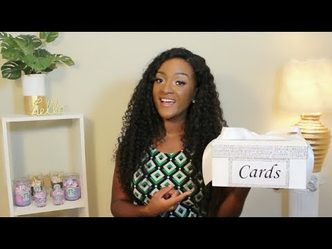 DIY 💎💎 BLING WEDDING CARD BOX , BABY SHOWER, SWEET SIXTEEN || Chanelle Novosey