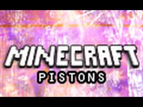 Minecraft Mods: Pistons (Piston Mod Demonstration)