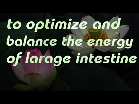 to optimize and balance the energy of  large intestine (healing codes&sound)