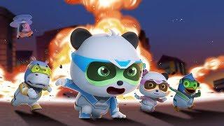 ¡Acción, Equipo de Rescate!   Súper Panda Héroes   Dibujos Animados Infantiles   BabyBus