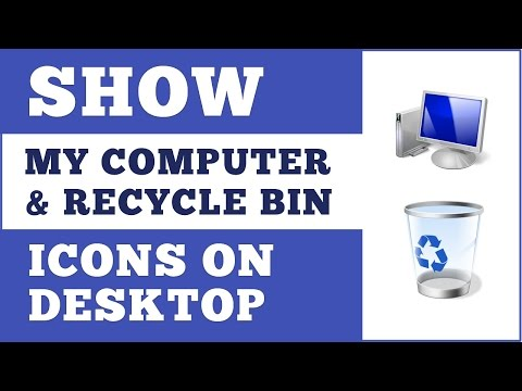 How To Easily Show My Computer Recycle Bin Icons On Desktop In Windows 8, 8.1