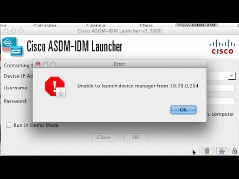 Unable to Launch ASDM Manager