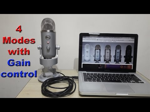 Blue Yeti condenser microphone Review & Demo