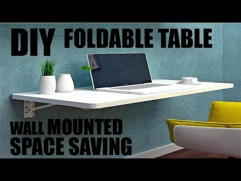 DIY SPACE SAVING FOLDABLE TABLE