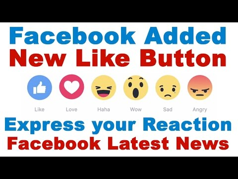 Facebook Added New Like Button - Facebook Like Button Emoticon (No Need Of Dislike Button Now)