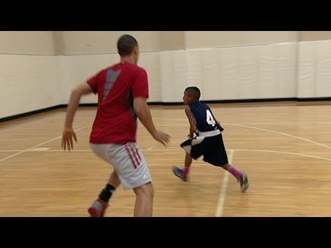 Short Varsity Basketball Player Schools the Bigger Kids