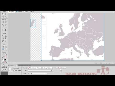 Flash + Fireworks CS4 Tutorial [HQ] - Interactive Map Button Menu Interface