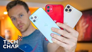 iPhone 11 vs 11 Pro vs 11 Pro Max - FULL REVIEW! | The Tech Chap