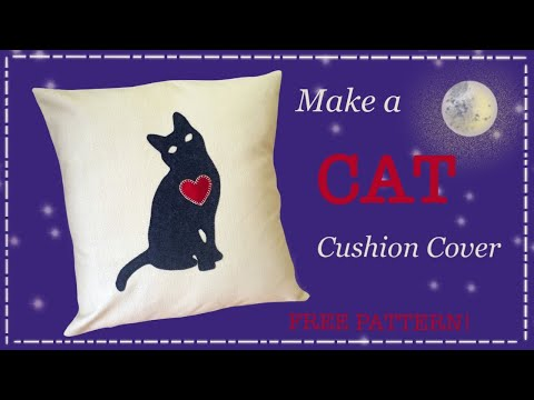 DIY cushion cover with FREE PATTERN by Lisa Pay