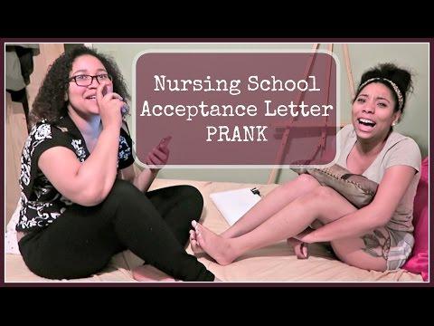 Nursing School Acceptance Letter PRANK
