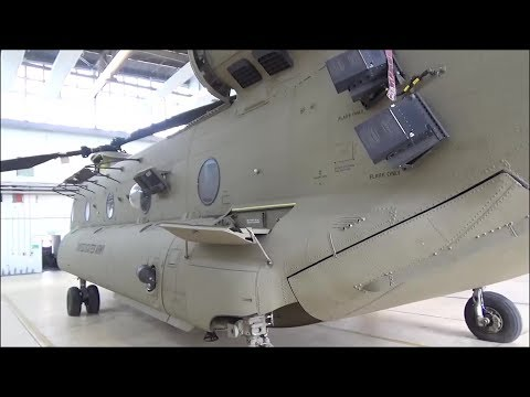 CH-47 Chinook Helicopter - Close-up and Detailed Walk Around