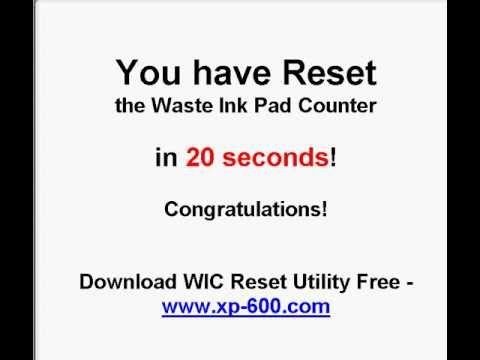 How to Reset Epson XP-600 series waste ink pads in 20 seconds FOR DUMMIES!