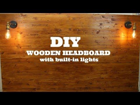 DIY Wooden Headboard With Built-in Lights