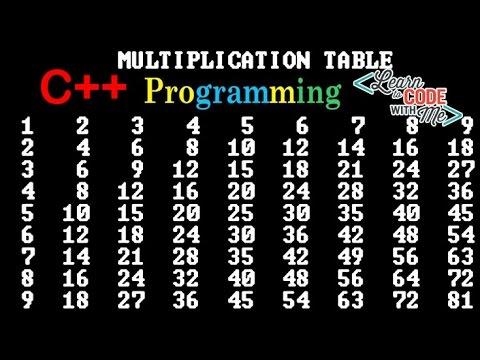 C++ Tutorial #2, Multiplication Table In C++