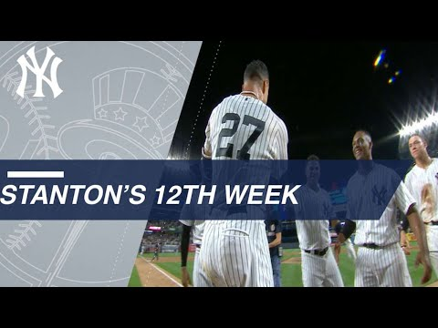 Stanton's signature Yankee moment highlights his week