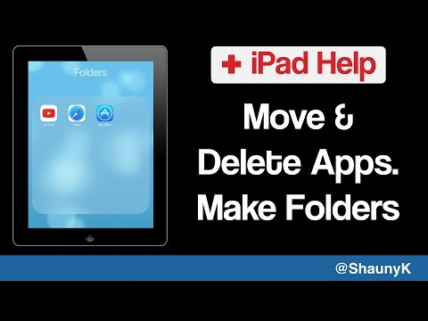 iPad Help - How to Move & Delete Apps & Create Folders