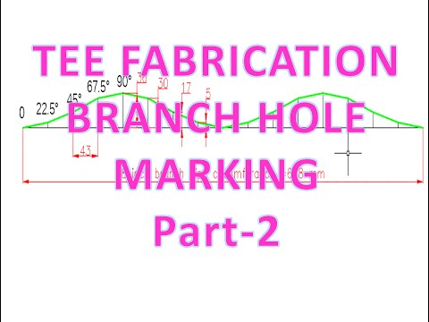 Piping_Tee fabrication/saddle depth/branch hole marking template_part -2