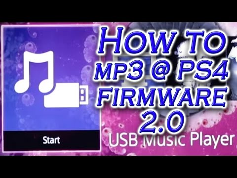 How to play MP3 on PS4 - Firmware 2.0 (USB Music Player Tutorial)