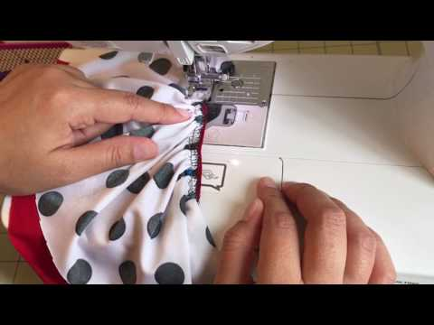 Super Easy * How to Attach Your Gathered Ruffle To Any Garment