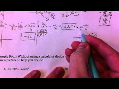 Evaluate Trig Functions Of Any Angle 3 Of 3