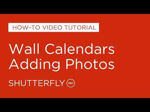Wall Calendars - Adding Photos