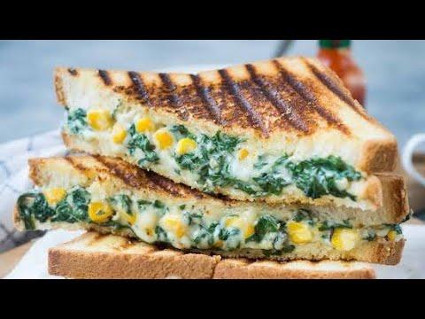 White Sauce Sandwich   Spinach Corn Sandwich