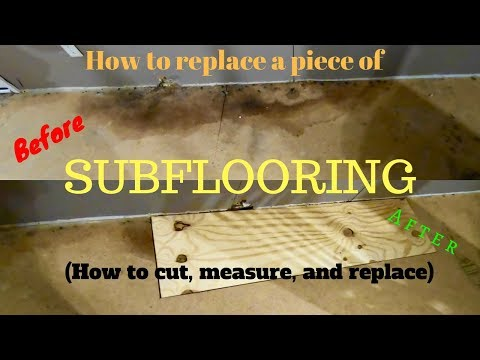 How to replace a section of a subfloor. (Replacing a rotten floor)