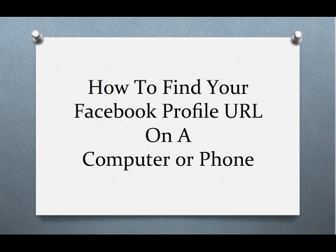 How To Find Your Facebook Profile URL On a Computer or Phone