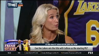 First Things First | Sarah Kustok DEBATE: Can the Lakers win the title with LeBron as starting FG?