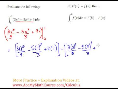 Definite Integral (Calculus) - Worked Example #3