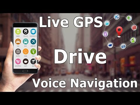 Live GPS Street Route Drive & Navigate With Voice