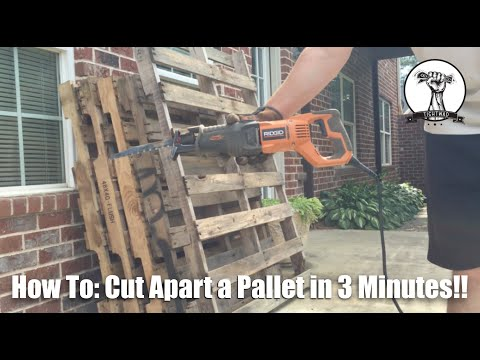 FAST WAY to Cut Pallets Apart - Deconstructing Pallets