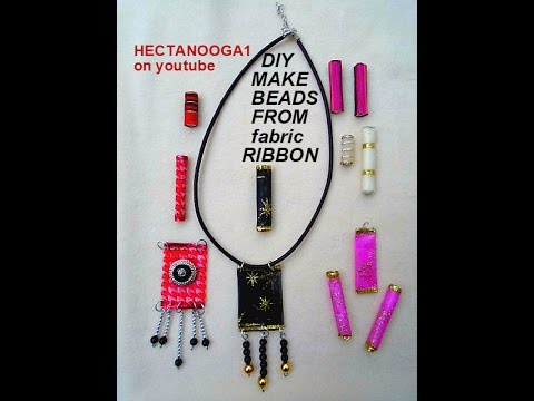 DIY JEWELRY BEADS: Fabric Ribbon Beads,   Jewelry making