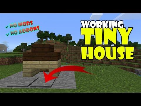 Working TINY HOUSE !!! Minecraft PE (Pocket Edition) MCPE Command Block Trick