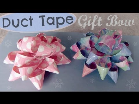 DUCT TAPE GIFT BOW - Holiday How To | SoCraftastic