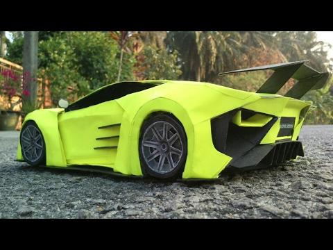 How To Make Car With Paper |PaperCraft Car