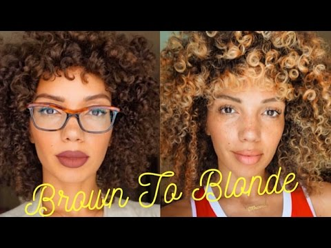 How To Dye Curly Hair Blonde At Home | Revlon Frost & Glow