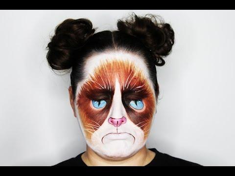 Grumpy Cat Face Painting Tutorial