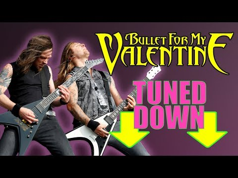 What if bullet for my valentine tuned down?! Drop tuned guitar riffs Drop G 7 string ibanez